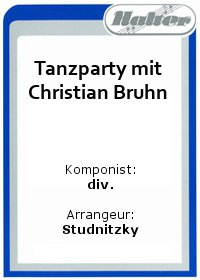 Tanzparty mit Christian Bruhn