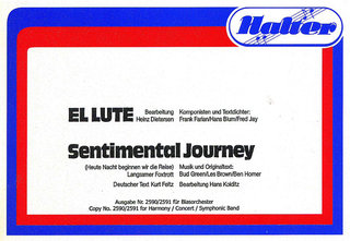 El Lute / Sentimental Journey