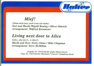 Living next door to Alice / Mief!