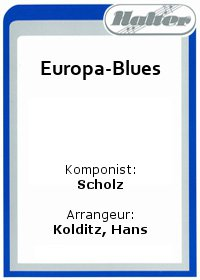 Europa-Blues / Lullaby