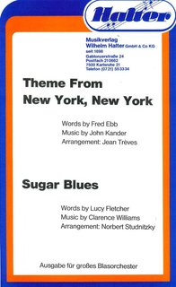Sugar Blues / Theme from New York. New York