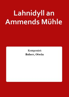 Lahnidyll an Ammends Mühle