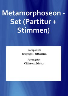 Metamorphoseon - Set (Partitur + Stimmen)