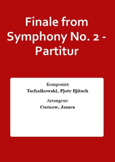 Finale from Symphony No. 2 - Partitur