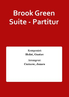 Brook Green Suite - Partitur