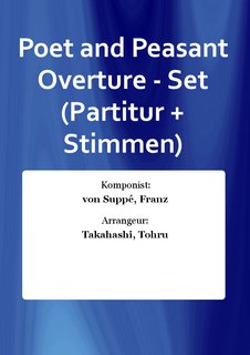 Poet and Peasant Overture - Set (Partitur + Stimmen)