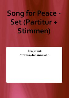 Song for Peace - Set (Partitur + Stimmen)