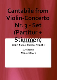 Cantabile from Violin-Concerto Nr. 3 - Set (Partitur + Stimmen)