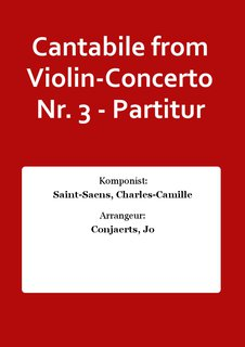 Cantabile from Violin-Concerto Nr. 3 - Partitur