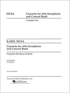 Concerto for Alto Saxophone and Concert Band - Partitur