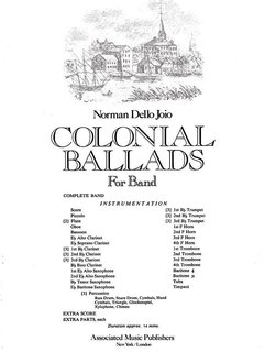 Colonial Ballads - Partitur