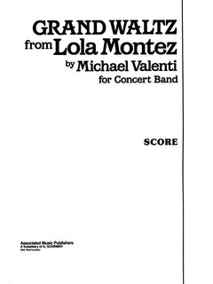 Grand Waltz from Lola Montez - Partitur