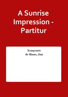 A Sunrise Impression - Partitur