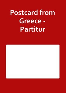 Postcard from Greece - Partitur
