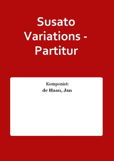 Susato Variations - Partitur