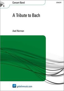 A Tribute to Bach - Partitur