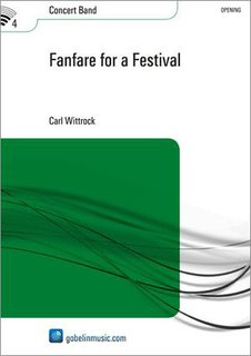 Fanfare for a Festival - Partitur