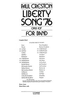 Liberty Song - Partitur