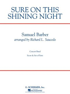 Sure on This Shining Night - Set (Partitur + Stimmen)
