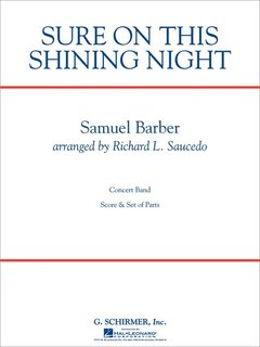 Sure on This Shining Night - Partitur