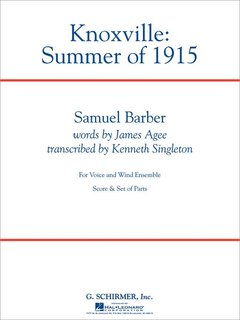 Knoxville: Summer Of 1915 - Partitur