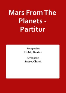 Mars From The Planets - Partitur