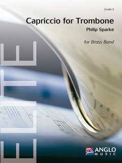 Capriccio for Trombone - Solo for Trombone and Brass Band - Partitur