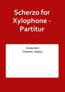 Scherzo for Xylophone - Partitur