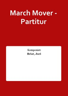March Mover - Partitur
