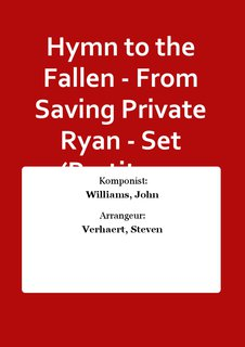 Hymn to the Fallen - From Saving Private Ryan - Set (Partitur + Stimmen)