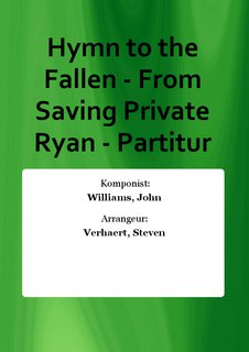 Hymn to the Fallen - From Saving Private Ryan - Partitur