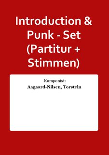 Introduction & Punk - Set (Partitur + Stimmen)