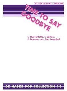 Time To Say Goodbye - Con Te Partiro - Set (Partitur + Stimmen)