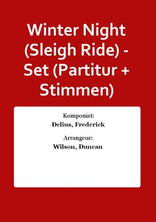 Winter Night (Sleigh Ride) - Set (Partitur + Stimmen)