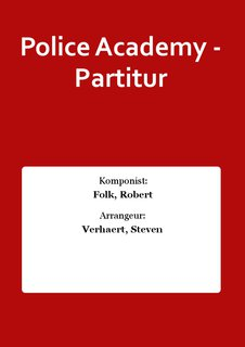 Police Academy - Partitur