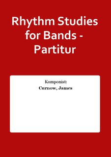 Rhythm Studies for Bands - Partitur