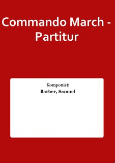 Commando March - Partitur