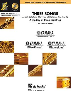 Three Songs - Set (Partitur + Stimmen) + CD