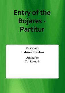 Entry of the Bojares - Partitur