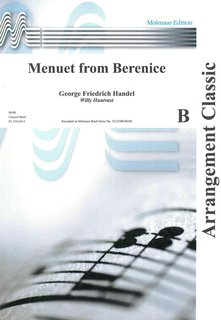 Menuet from Berenice - Partitur