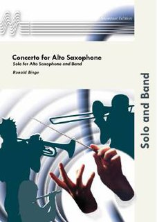Concerto for Alto Saxophone and Band - Partitur