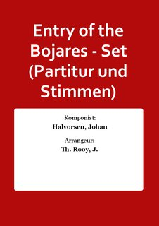 Entry of the Bojares - Set (Partitur und Stimmen)