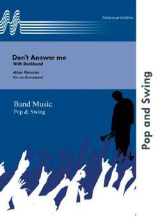 Dont Answer me - Set (Partitur und Stimmen)