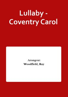 Lullaby - Coventry Carol