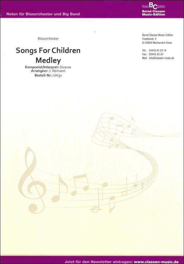 Songs for Children Medley   Noten - Medleys   Arr. Jens Illemann