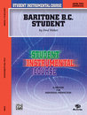 Student Instrumental Course: Baritone (B.C.) Student,...
