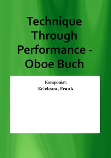 Technique Through Performance - Oboe Buch