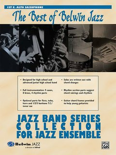 Best of Belwin Jazz: Jazz Band Collection for Jazz Ensemble - 1st Alto Saxophone