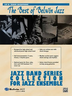Best of Belwin Jazz: Jazz Band Collection for Jazz Ensemble - 1st Tenor Saxophone