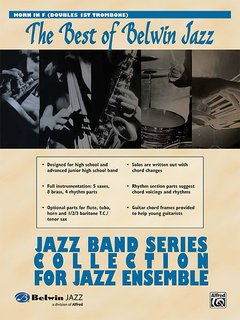 Best of Belwin Jazz: Jazz Band Collection for Jazz Ensemble - Horn in F